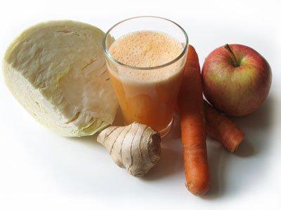 coleslaw juice vitkål äpple ingefära