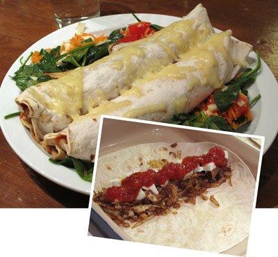 Vitkåls enchiladas vegetariska
