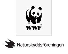 WWF och naturskyddsföreningen logotyp
